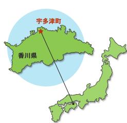 宇多津町の場所